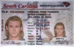 South Drivers Best Idviking Carolina sc - Licence- Old Fake Ids Scannable Id