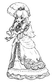 Small Picture Free Princess Peach Coloring Pages For Kids