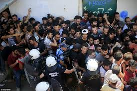 Image result for police    public        riot syria