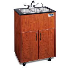 ozark river premier 3 portable hot water sink with triple stainless steel basin