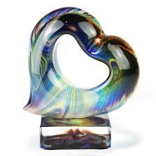 cuore in vetro di murano