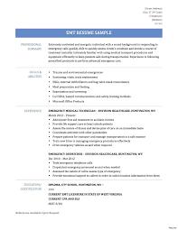 Emt Resume Sample paramedic resume examples Josemulinohouseco 23
