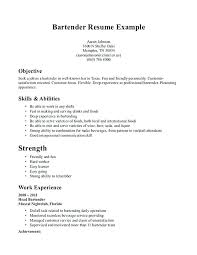Server Bartender Resume Adorable Bartender Server Resume Swarnimabharathorg