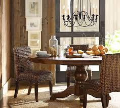 pottery barn round rug dining