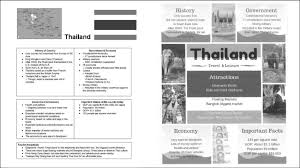 Sample Student Travel Brochure Uploaded At The Midpoint And Final To