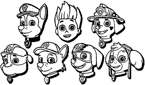 Coloring Pages Paw Patrol Coloring Pages Printable Free Pictures