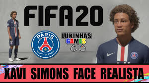 FIFA 20 - XAVI SIMONS - PARIS SAINT GERMAIN / FACE REALISTA / HOW TO MAKE /  PROCLUBS / TUTORIAL - YouTube