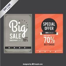 sale flyers sale flyers in retro style vector premium download