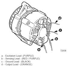 fetch?id=6999056 connection diagram for a 4 wire alternator 4 3l merc alpha page 1 on mercruiser alternator wiring diagram