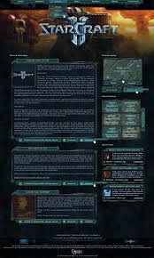 starcraft 2 fansite template by nicotinell on deviantart