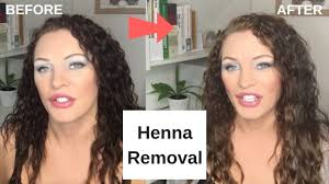 how to remove henna dye from hair you