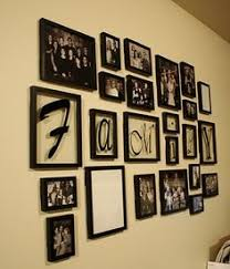 love this idea going to make a keep smiling wall picture wall use command strips in black to hang frames love the idea of family in frames too  on family picture frame wall art with black 15 piece family multi picture photo frame frames wall set