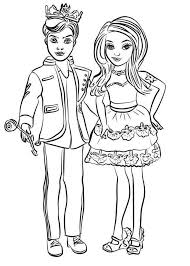 Descendants Coloring Pages Ben And Mal Super Coloring Page