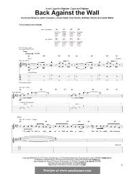 back against the wall cage the elephant for guitar with tab by brad