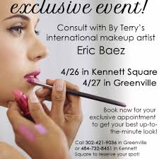 hurry in and book your plimentary exclusive makeup appointment with international by terry makeup artist eric