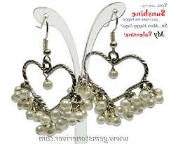 gold heart chandelier earrings e cream ivory pearl heart chandelier cer dangle earrings wedding girlfriend