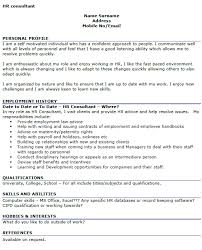 Sample Hr Professional Consultant Resume Hr Consultant Cv Example Icover Org Uk