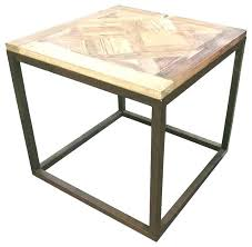 target wood side table side table reclaimed wood side table target griffin modern rustic parquet iron