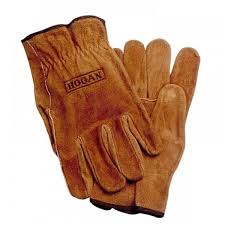 custom thermal brown split cowhide leather gloves garden work gloves