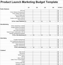 Marketing Budget Plan Product Launch Plan Marketing Budget Template 280 Group