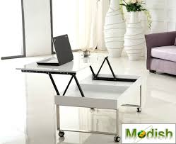Movable furniture Classroom Larger Image Modishhomecom Lifttop Coffee Table Movable With Casters Gloss White Finish
