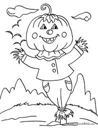 Small Picture Jack o lantern scarecrow coloring pages Hellokidscom