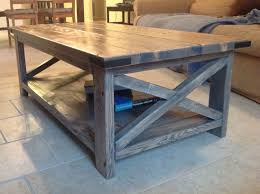 light grey painted walnut low coffee table