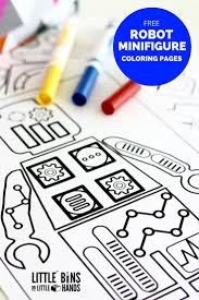 Free minifigure robot coloring pages and designs for kids