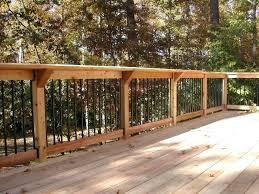 deck railing ideas cedar deck railing ideas to beautify the throughout design 9 regarding cedar deck