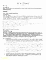 Career Change Resume Objective Statement Examples Unique Career