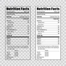 Ingredients Label Template Nutrition Facts Information Label Template Daily Value Ingredient