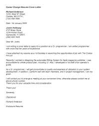 Career Change Cover Letter Examples Thinking Skills That They Have