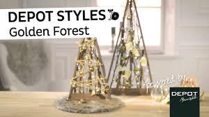 Depot Styles Golden Forest Weihnachtsdeko Mit Lichterkette