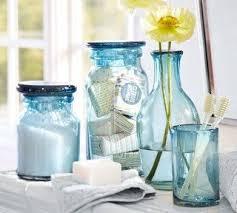 Sea Glass Bathroom Accessories Awesome Blue Beach Bath Tropical And