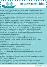 Resume Titles Examples Free Resume Templates