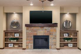 custom home with electric fireplace