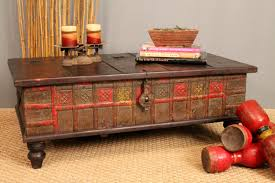 modern vintage trunk coffee table