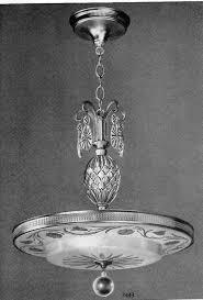 1940s chandelier by lightolier