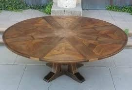 round table that expands by turning barn wood round table expands turning
