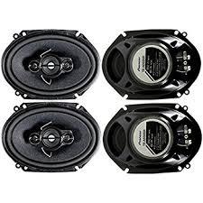 pioneer 4 speaker car audio system package. 4) pioneer 5x7 / 6x8 inch 4-way 350 watt car stereo speakers four 4 speaker audio system package