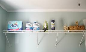 wire shelves to be replaced by pipe shelving