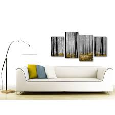 display gallery item 3 modern large yellow and grey forest woodland trees bedroom canvas pictures decor 4384 130cm display gallery item 4  on large grey canvas wall art with large yellow and grey forest woodland trees bedroom canvas wall art