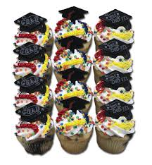 Graduation Cupcakes 2 12 Count Standard Size Aggies Bakery