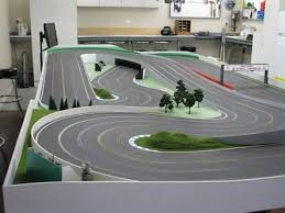 best images about slot car layouts slot car wood routed slot car track photos google search