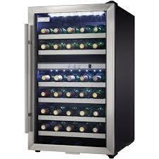 danby dwcblsdd designer dual zone wine cooler stainless steel