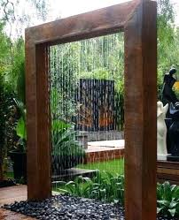 outdoor wall waterfall decoration outdoor water wall fountain pool design ideas throughout outdoor wall water fountains