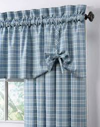country curtains country plaid cotton casual curtain panel curtainworks com