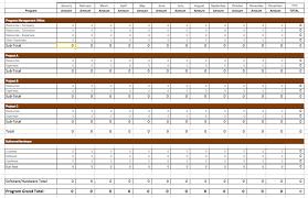 business plan template xlsx project management budget example ...