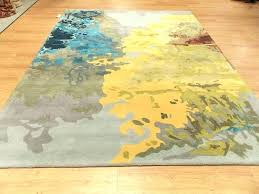 green and yellow rugs grey rug 8 x gray blue contemporary hand red area