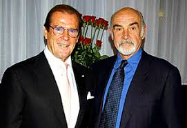 Photo of Sean Connery & his friend  Roger Moore